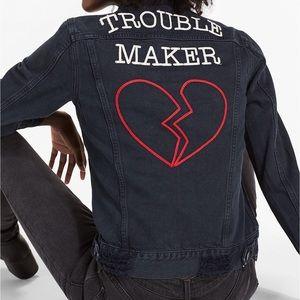 Lucky Brand Boyfriend Trouble Maker Denim Jacket